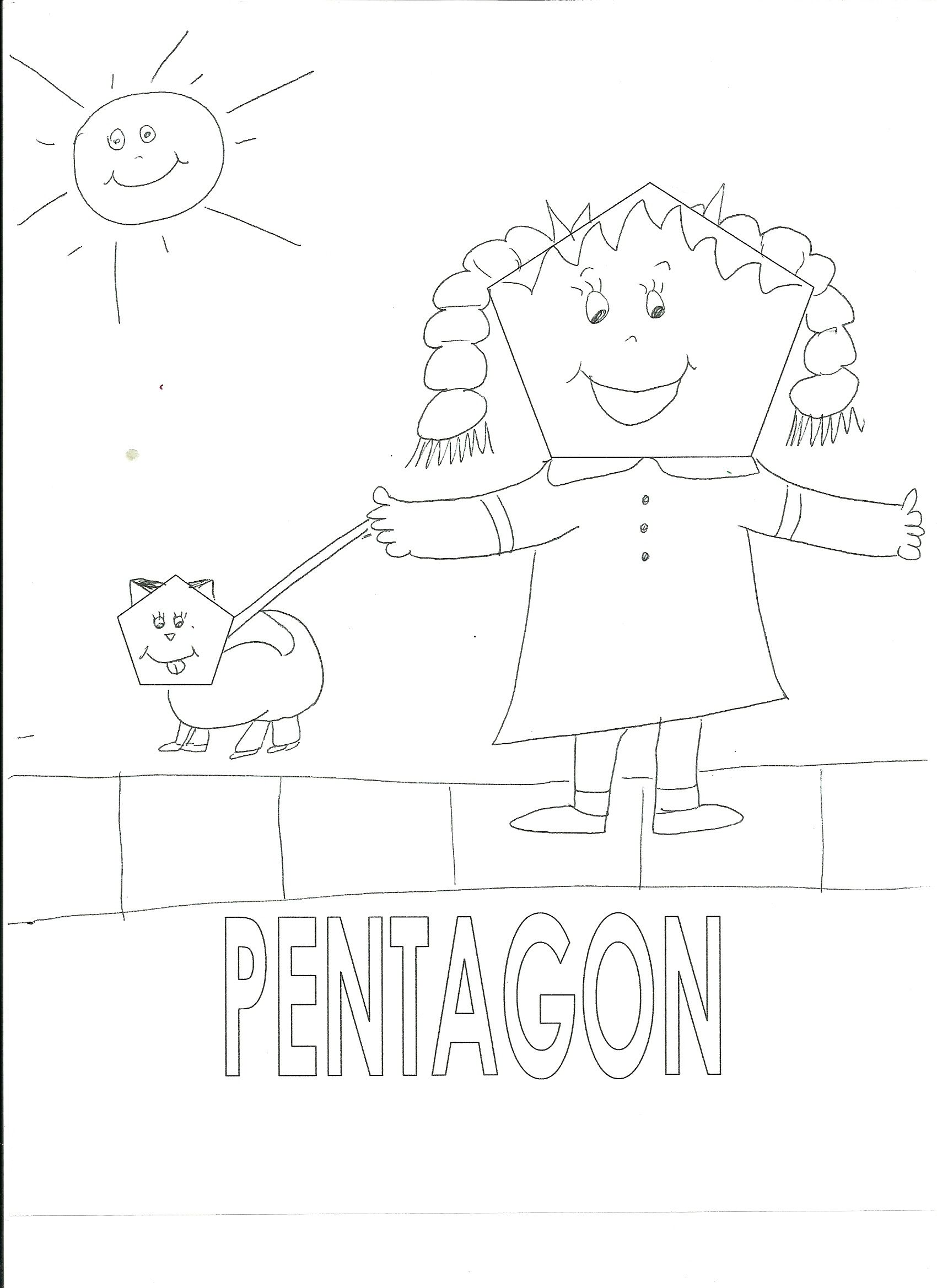 Pentagon coloring page homeschool math pinterest homeschool