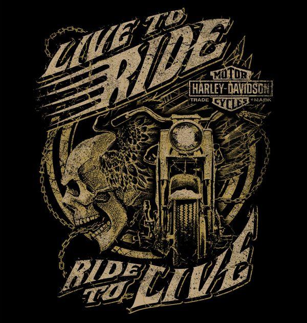 Harley-Davidson [illustrations] | Logos | Pinterest | Motocicleta ...
