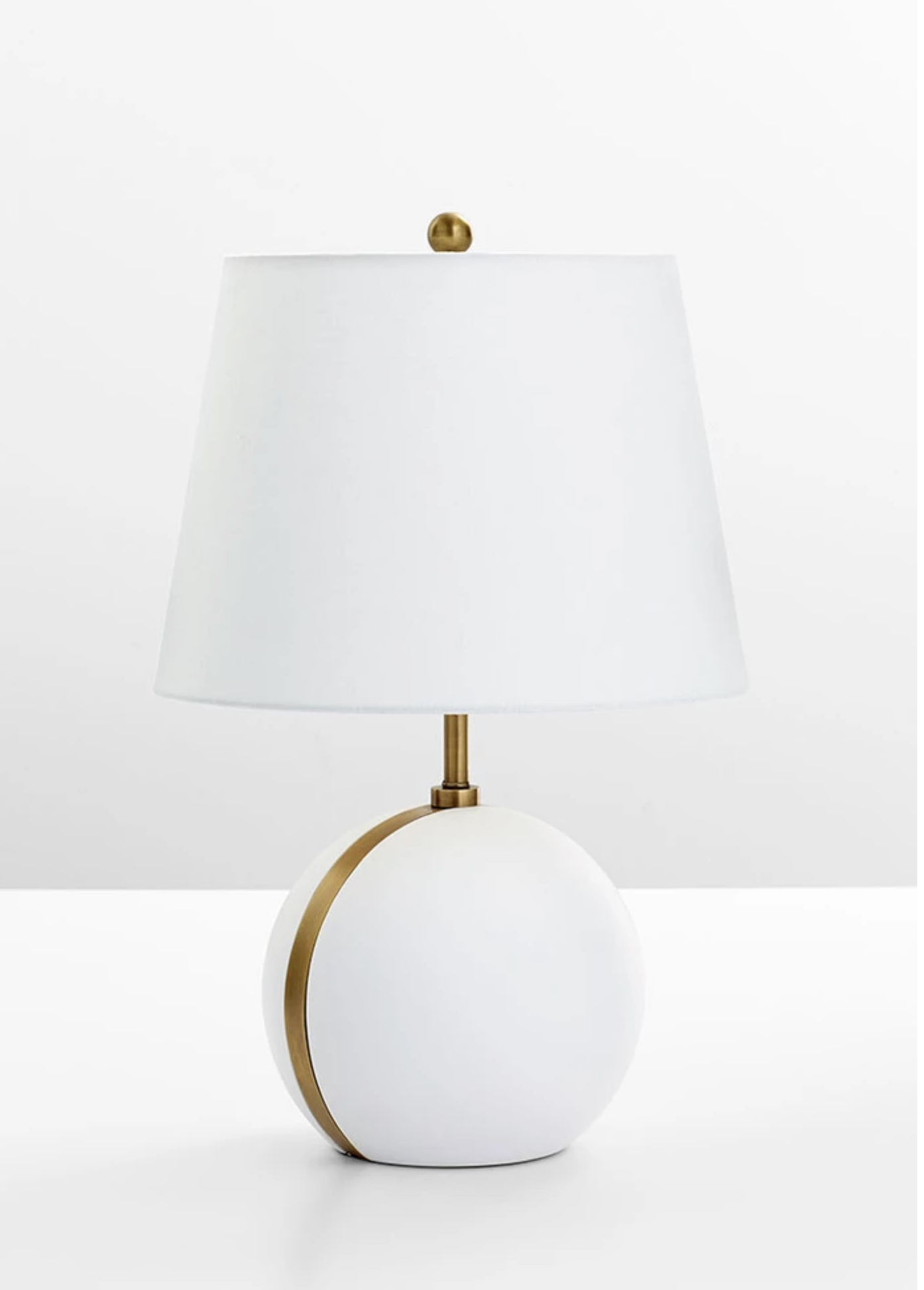 Love How Simple And Stylish This White Brass Accent Lamp Is That
