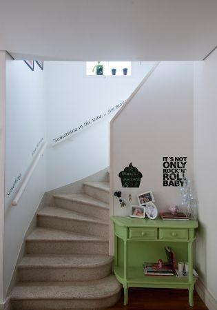 Escada musical Nas paredes da escada, adesivo com a letra da música - paredes con letras