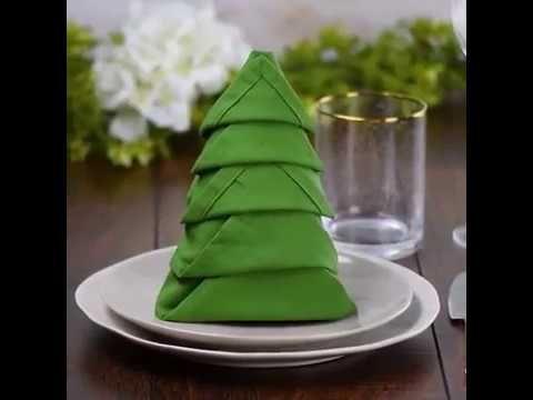 Servietten falten Weihnachten - 5 einfache Anleitungen und noch eine Menge Inspiration #foldingnapkins