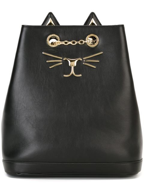 578deacf4719 Shop Charlotte Olympia  Feline  backpack in Profile from the world s best…