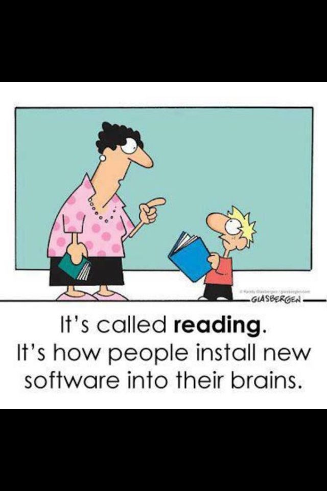learn to use this technology! Open a book!