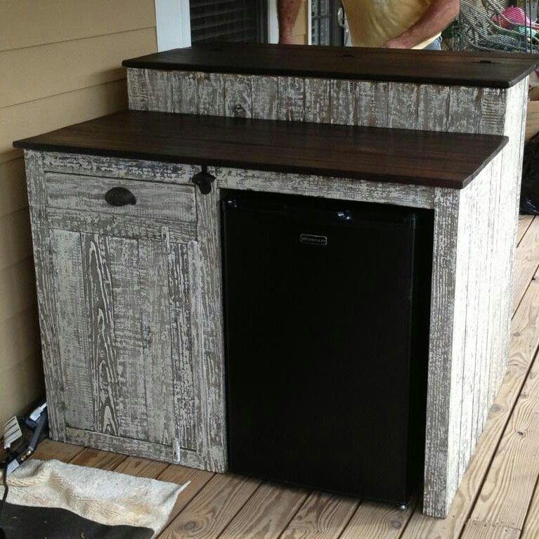 outdoor mini fridge diy outdoor bar