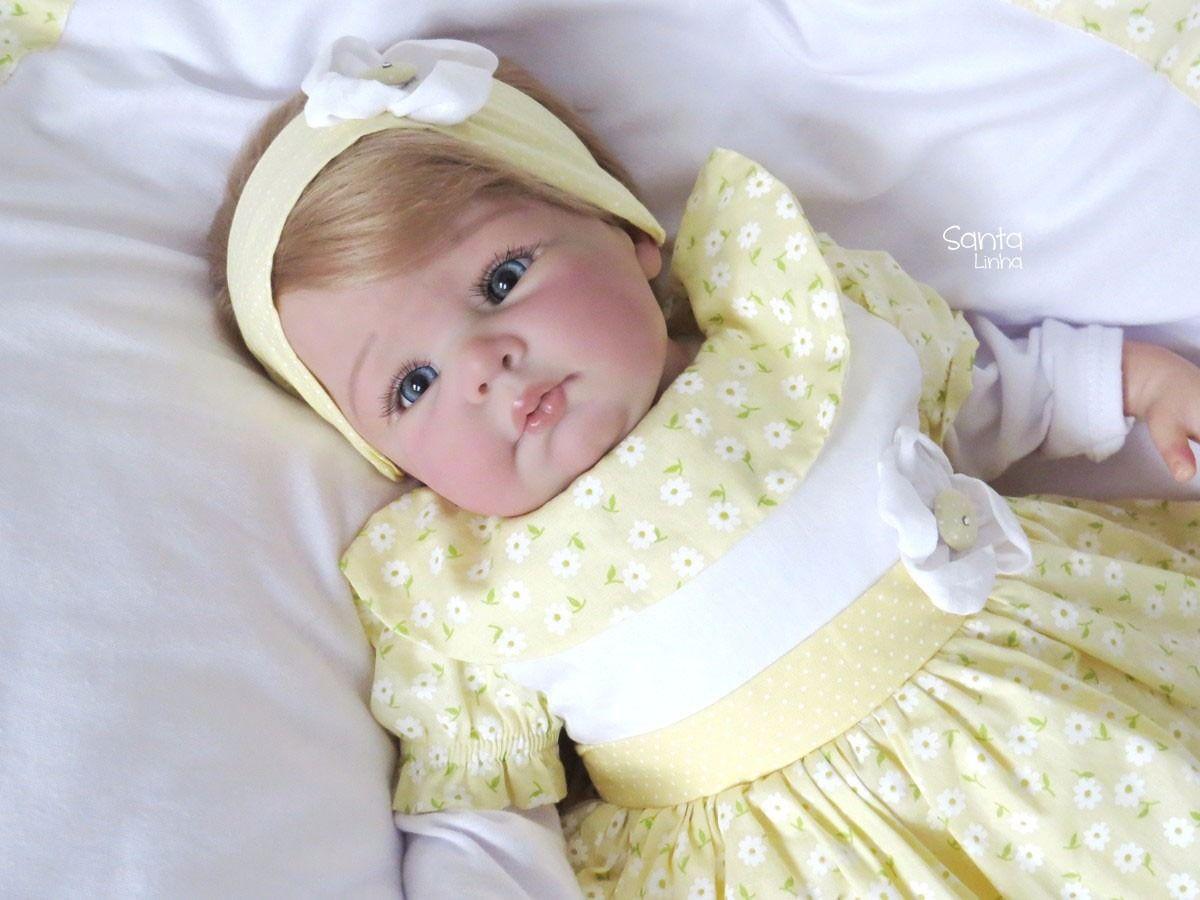 73ea20ed2 Saída Maternidade Menina Amarelinha Enxoval De Bebê - R  169