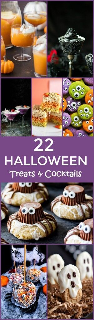 These 22 Halloween Treats and Cocktails are so fun for your parties