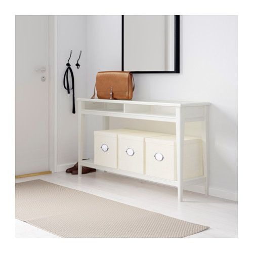 Hemnes Coffee Table White Stain 118x75 Cm: LIATORP Console Table, White, Glass