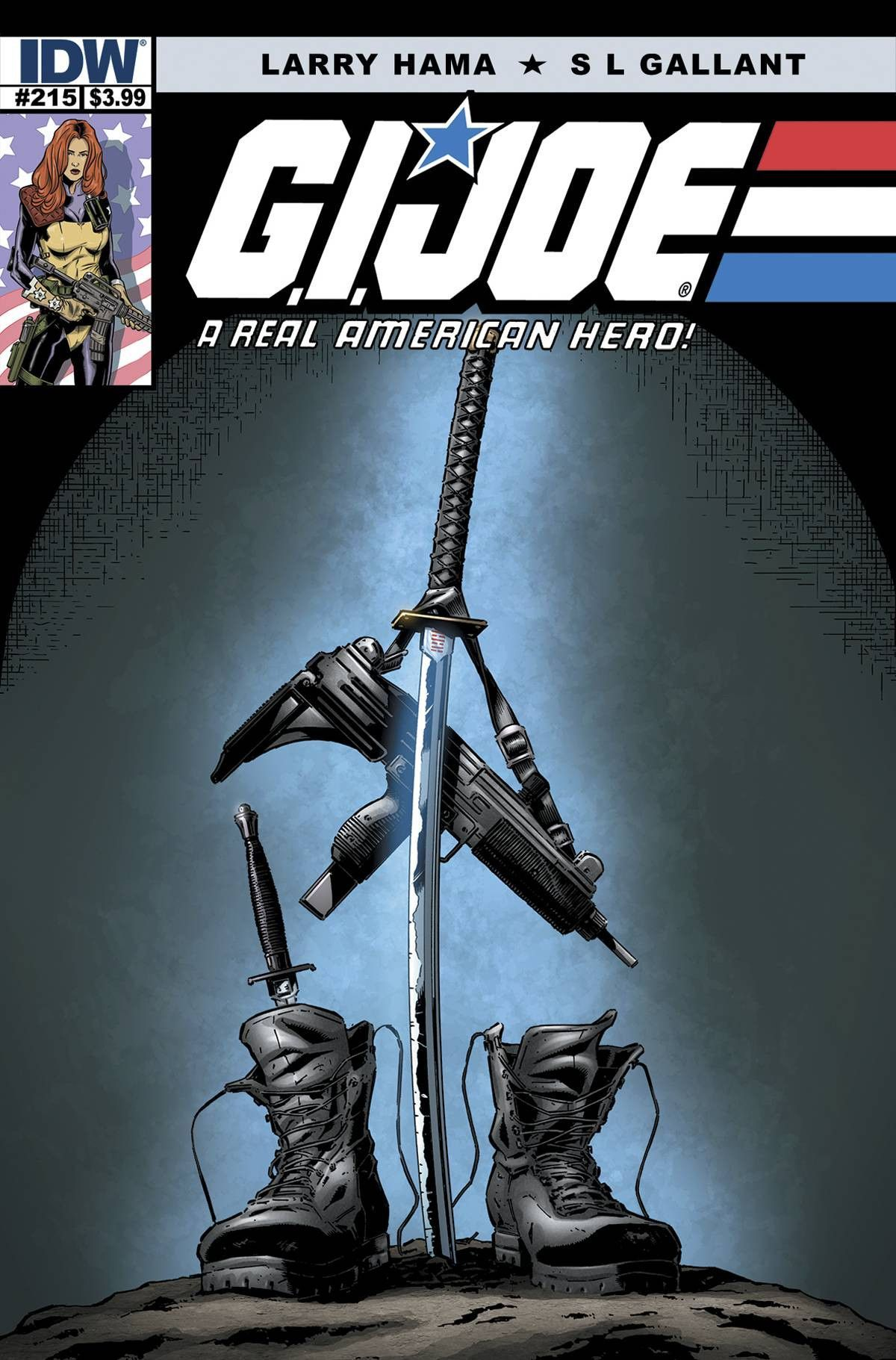 """""""The Death of Snake Eyes,"""" Part 4. As a hero falls, a new one must rise to take his place. G.I. JOE mourns Snake Eyes and prepares for what comes next..."""