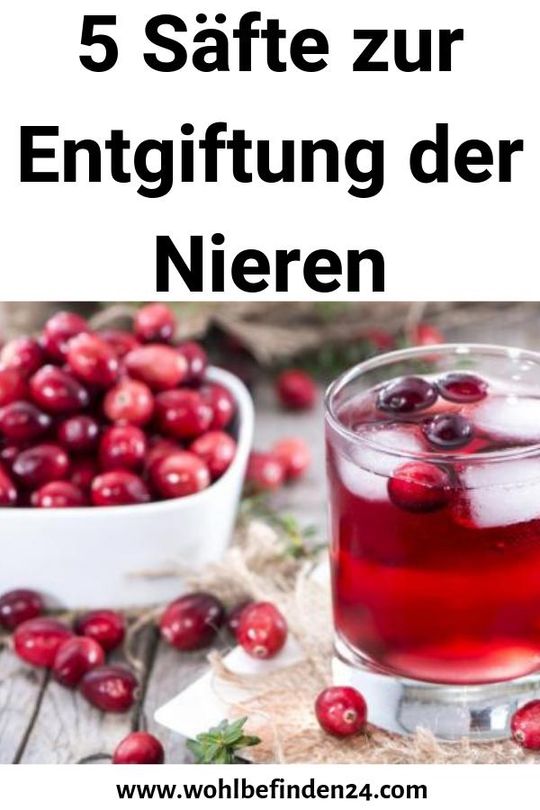 Diät zur Entgiftung der Nieren