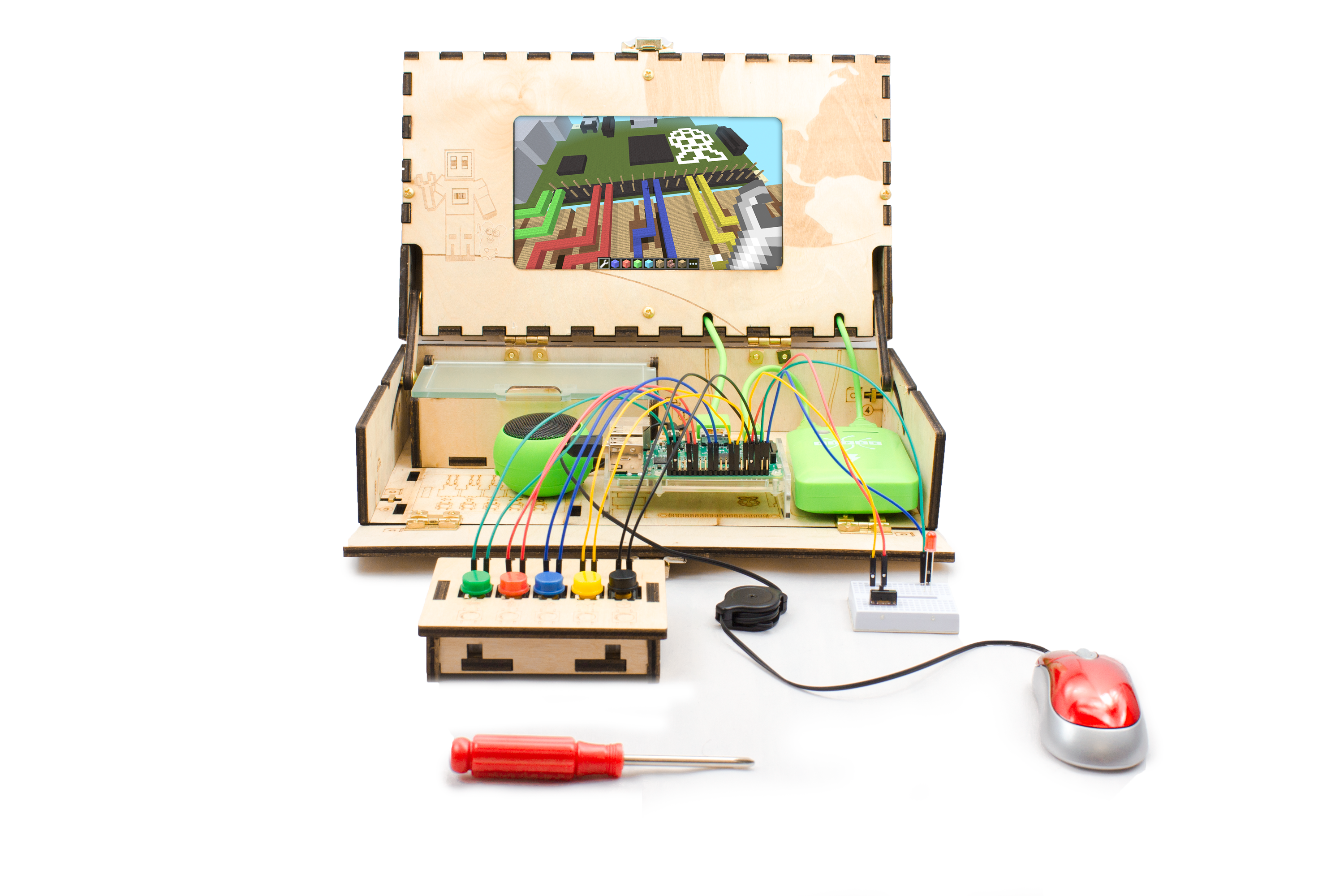 Piper Is A Diy Computer Kit For Kids To Learn Engineering Through Electronic Kits Minecraft Pi Edition