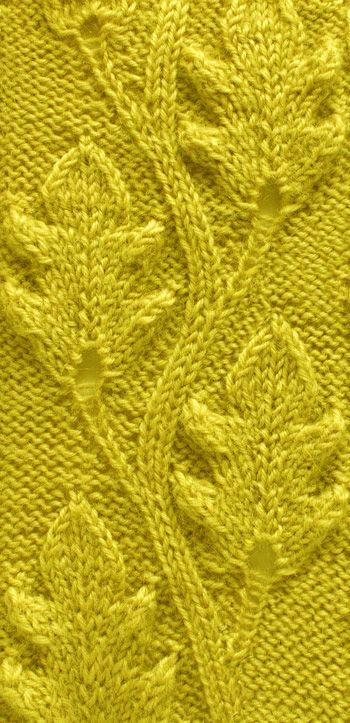 Eichenblätter | Stitch patterns | Pinterest | Strickmuster, Stricken ...