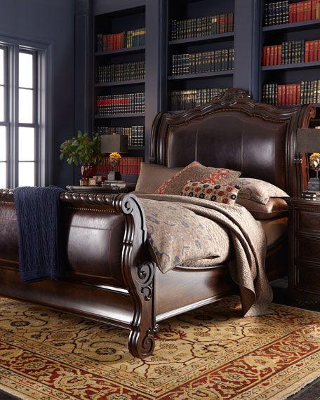 Colette King Sleigh Bed Furniture Decorbedroom