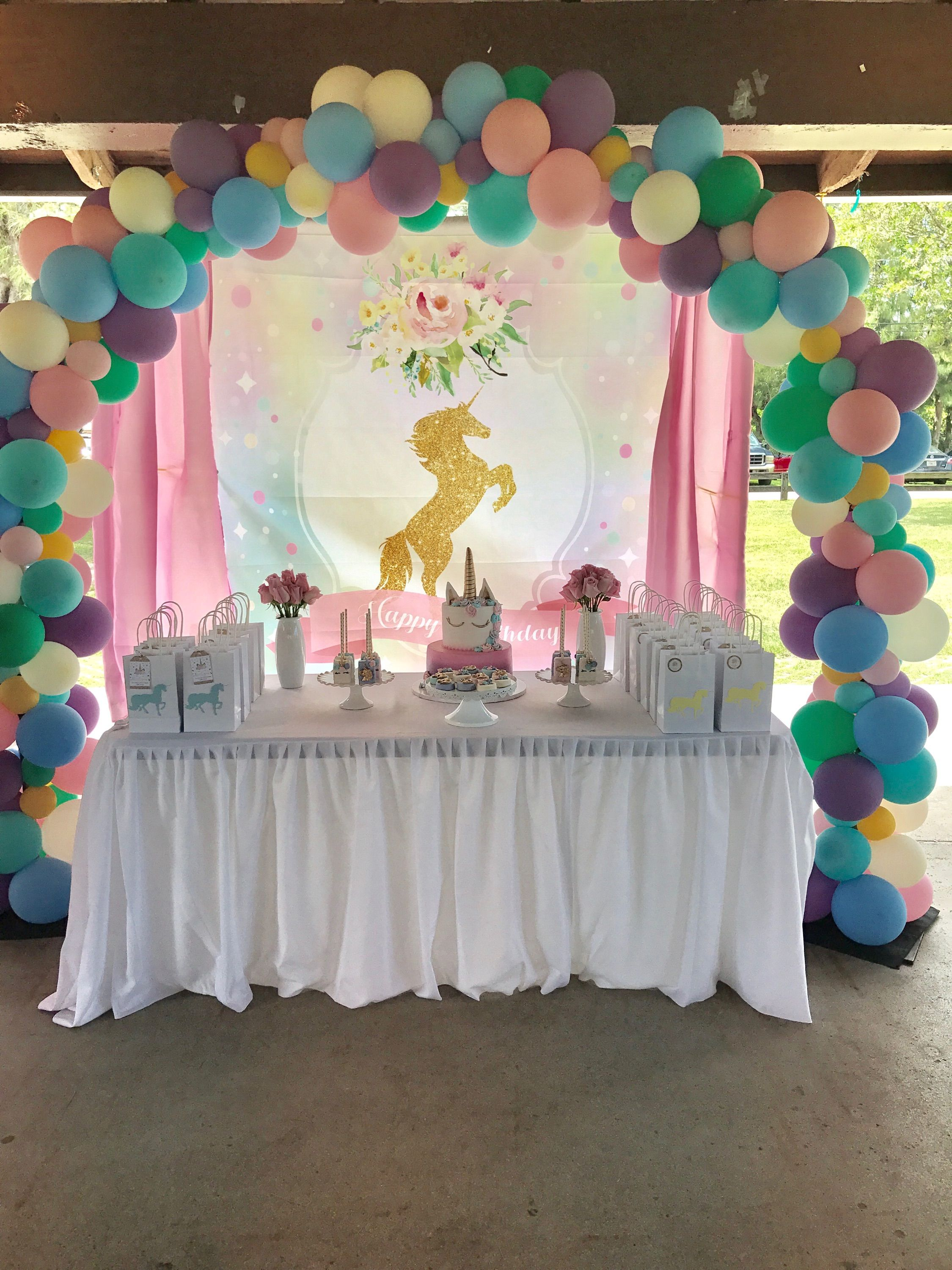 Unicorn Flower DIY Birthday Party Backdrop Decorations Baby Shower In 2019