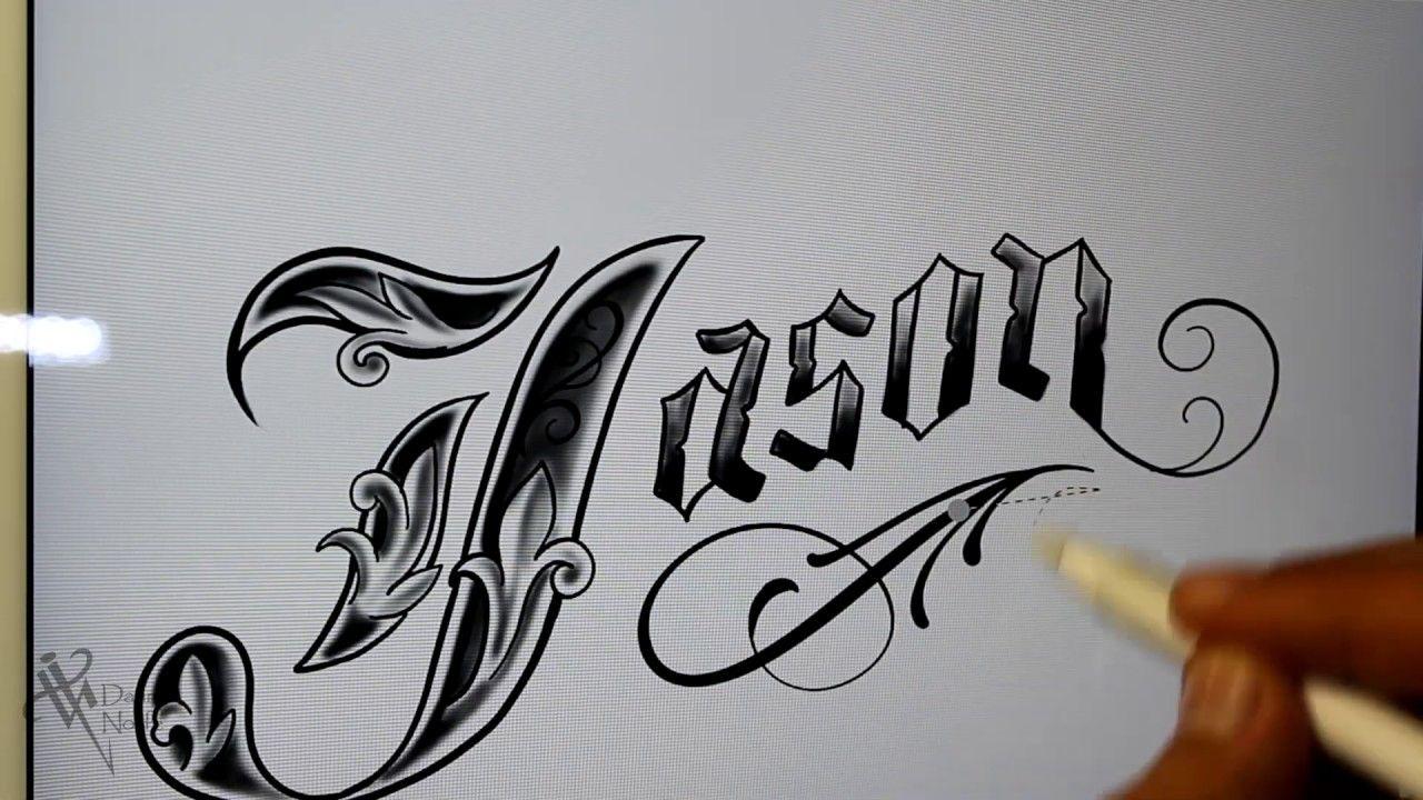 Dibujando Letras Chicanas Jason Drawing Lettering Nosfe Ink Tattoo In 2020 Jason Drawing Ink Tattoo Lettering Alphabet