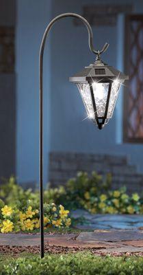 Sparkling Solar Lantern Garden Stake Get 2 Solar Garden Lanterns