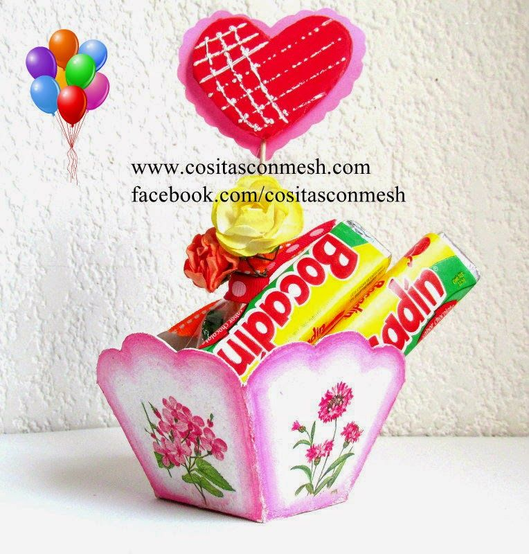 Manualidades cajita de dulces para d a de la madre d a - La cajita manualidades ...