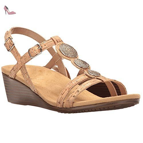 Vionic Womens Islars Navy Leather Sandals 41 EU tppRXj