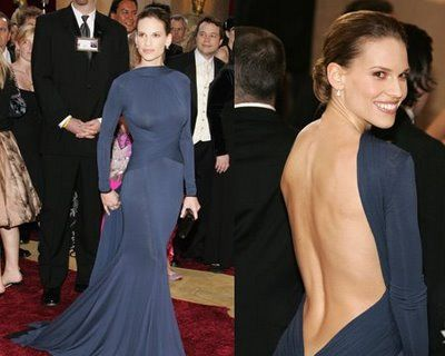 One of the most stunning dresses of all time. (Hillary Swank)