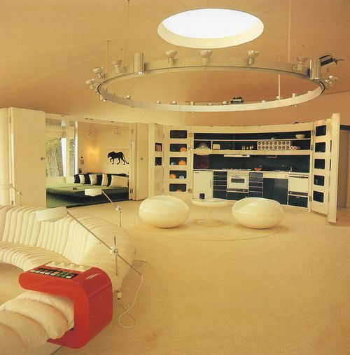 Old Fashion Interior Design 70 S 80 S Futuristic Interior Retro