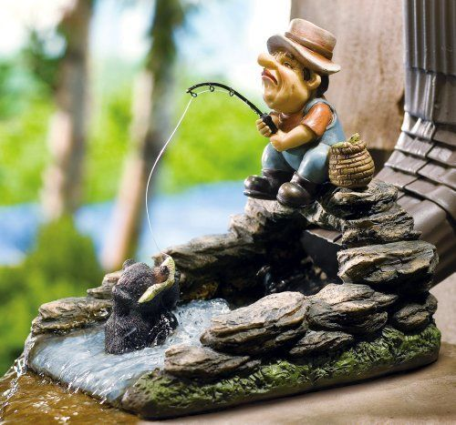 Fisherman Decorative Gutter Downspout By Collections Etc By Collections 12 99 Measures 8 1 2 L X 8 1 4 H Hand Painte Decorative Downspouts Downspout Gutter