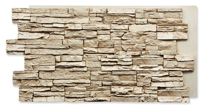 Norwich Colorado Stacked Stone Taffy Beige Panel W 48 7 8 H 24 5 8 2 Thick Faux Stone Panels Stone Veneer Panels Stacked Stone