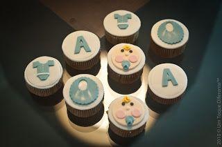 Chá de fraldas: cupcake