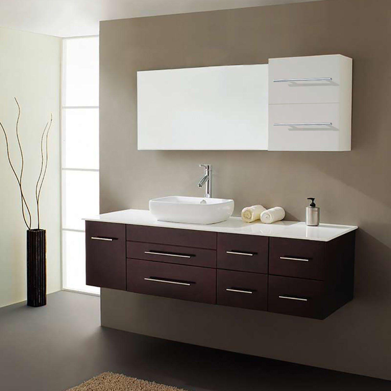 Virtu Usa Justine 59 Floating Bathroom Vanities Bathroom Vanity