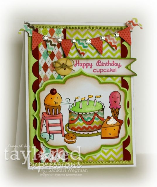 Happy Birthday Cupcake Card by Sankari Wegman #Cardmaking, #Birthday, #RetirementSale, #Cuppie