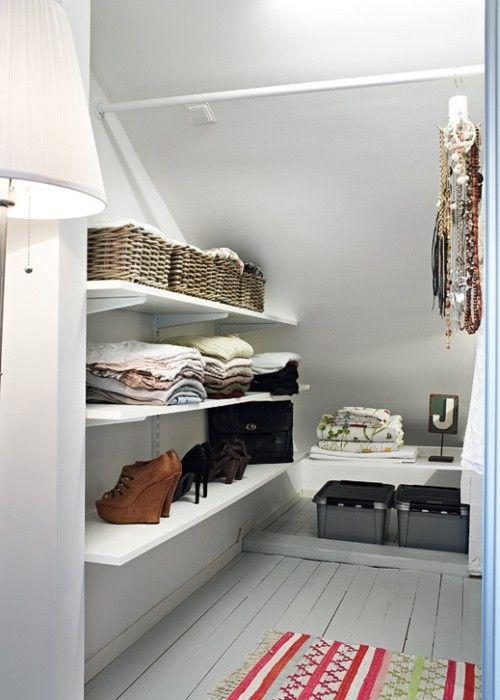 Deep Closet Organization Ideas Part - 45: Deep, Sloped, Closet Organization By Heather