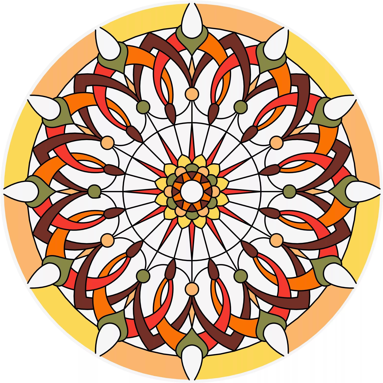 орнамент в круге цветы заливной витраж: 11 тыс изображений ...