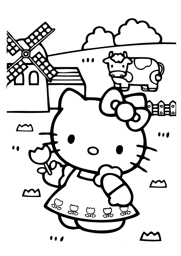 3d coloring pages by hello kids | Hello Kitty Pages To Color | For gils | Pinterest | Hello ...
