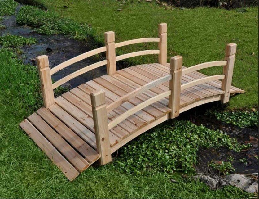 Small Garden Bridges To Sweeten Your Garden Rustic Wooden Bridge