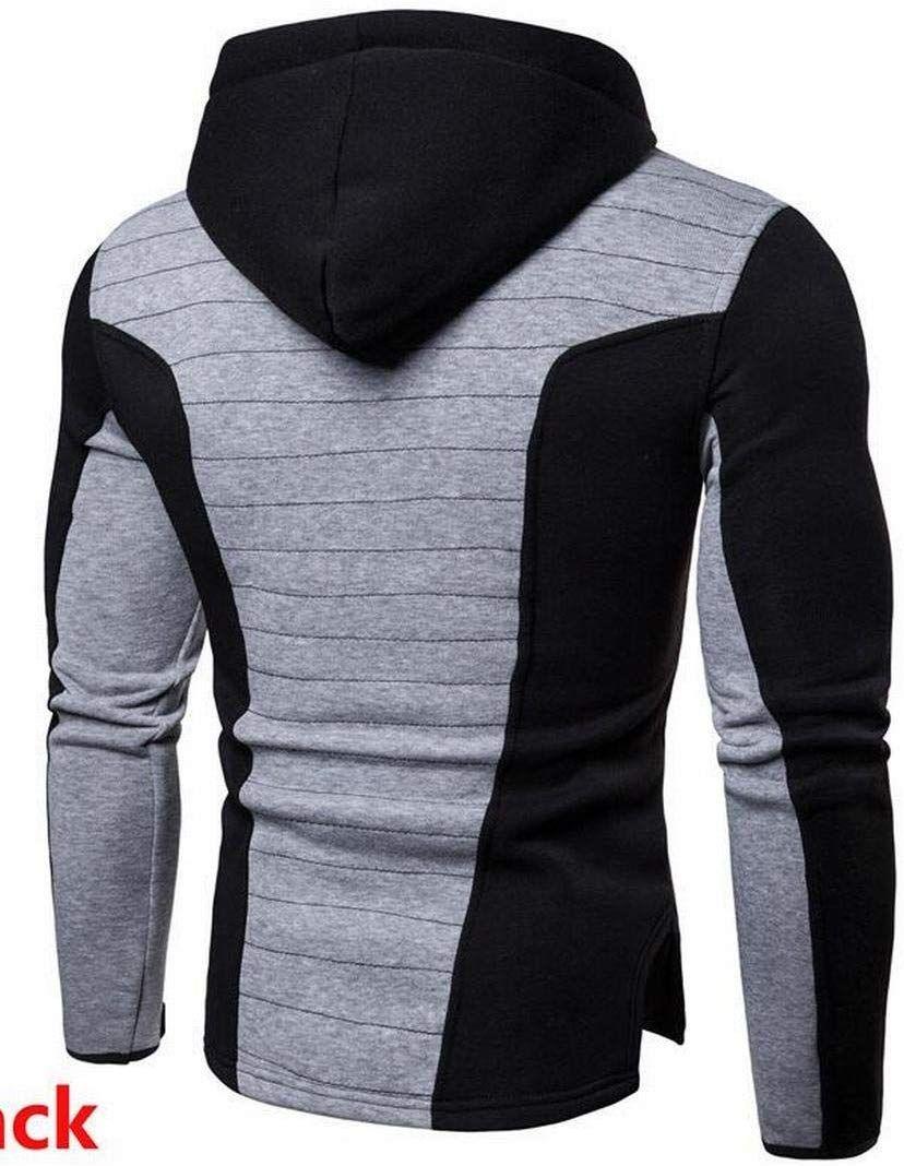 Mk988 Men Hooded Contrast Thumb Hole Full Zip Gym Workout Slim Fit Hooded Sweatshirts Jacket Coat Black Xl A Mens Sweatshirts Hoodie Hoodies Men Casual Hoodie [ 1068 x 828 Pixel ]