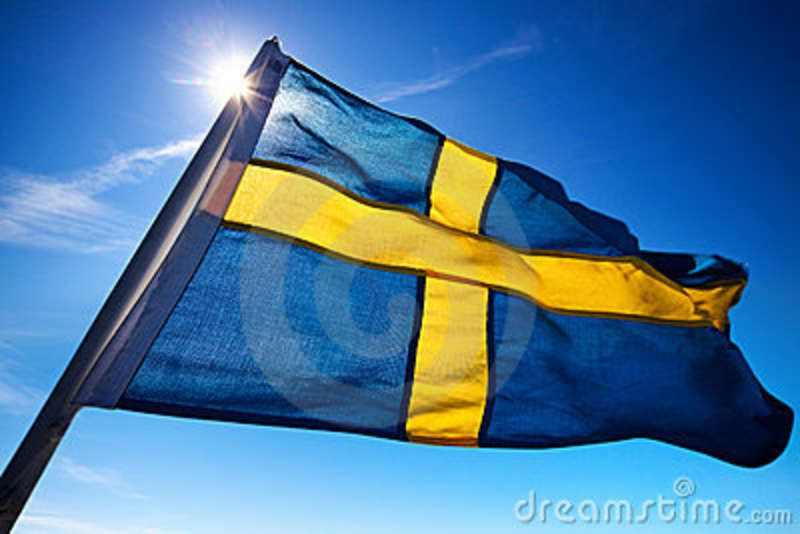 Flag Of Sweden The Flag Of Sweden Is A Scandinavian Cross That Extends To The Edges Of The Flag This Scandinavian Cross Represe Learn Swedish Sweden Swedish
