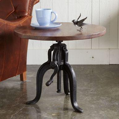 Rockwell Adjustable Round Side Table Adjustable Coffee Table