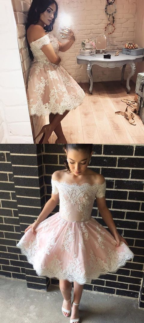f49ef7f94cc Pretty Lace Homecoming Dress,Short Prom Dresses,Cocktail Dress ...