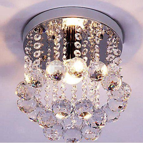 Surpass Lighting Lustre En Cristal Style Mini 1 Ampoule S Https Www Amazon Fr Dp B0164zv8zk Ref Cm S Lustre Encastre Luminaire Plafond Plafonnier Encastre