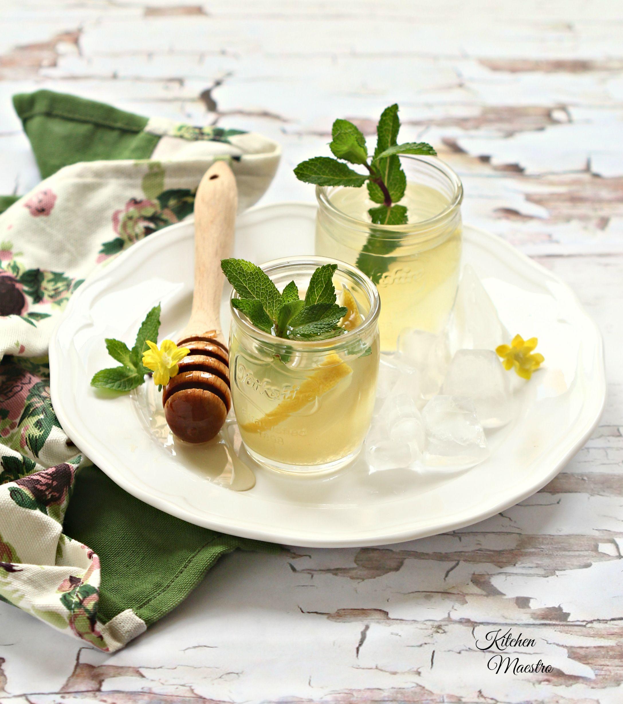 Kitchenmaestro Aboutme Mint Lemonade Lemonade Honey Lemonade