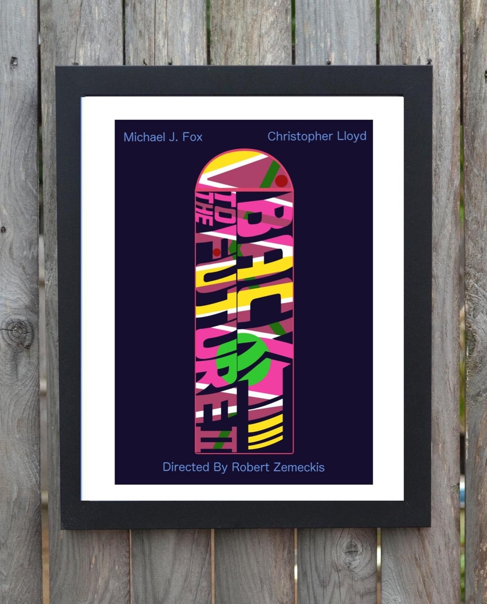 Back to the future minimalist movie poster etsy