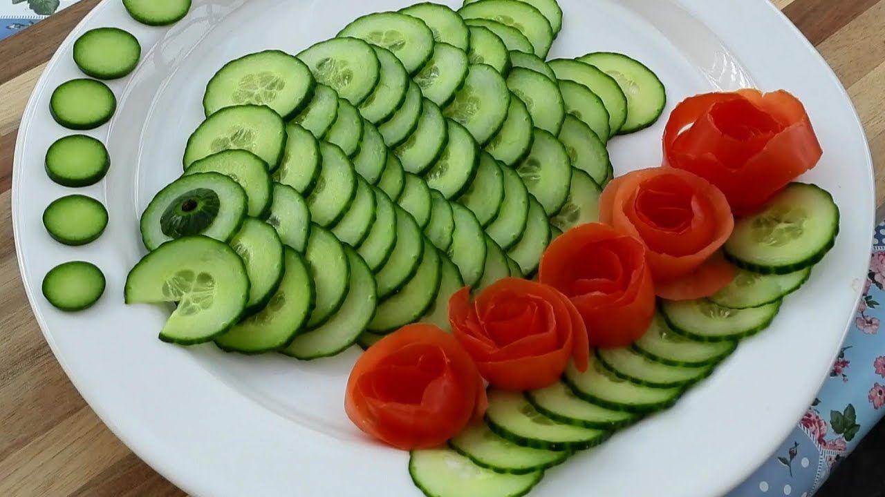 Super Salad Decoration Ideas Vegetable Flower Plate Decoration
