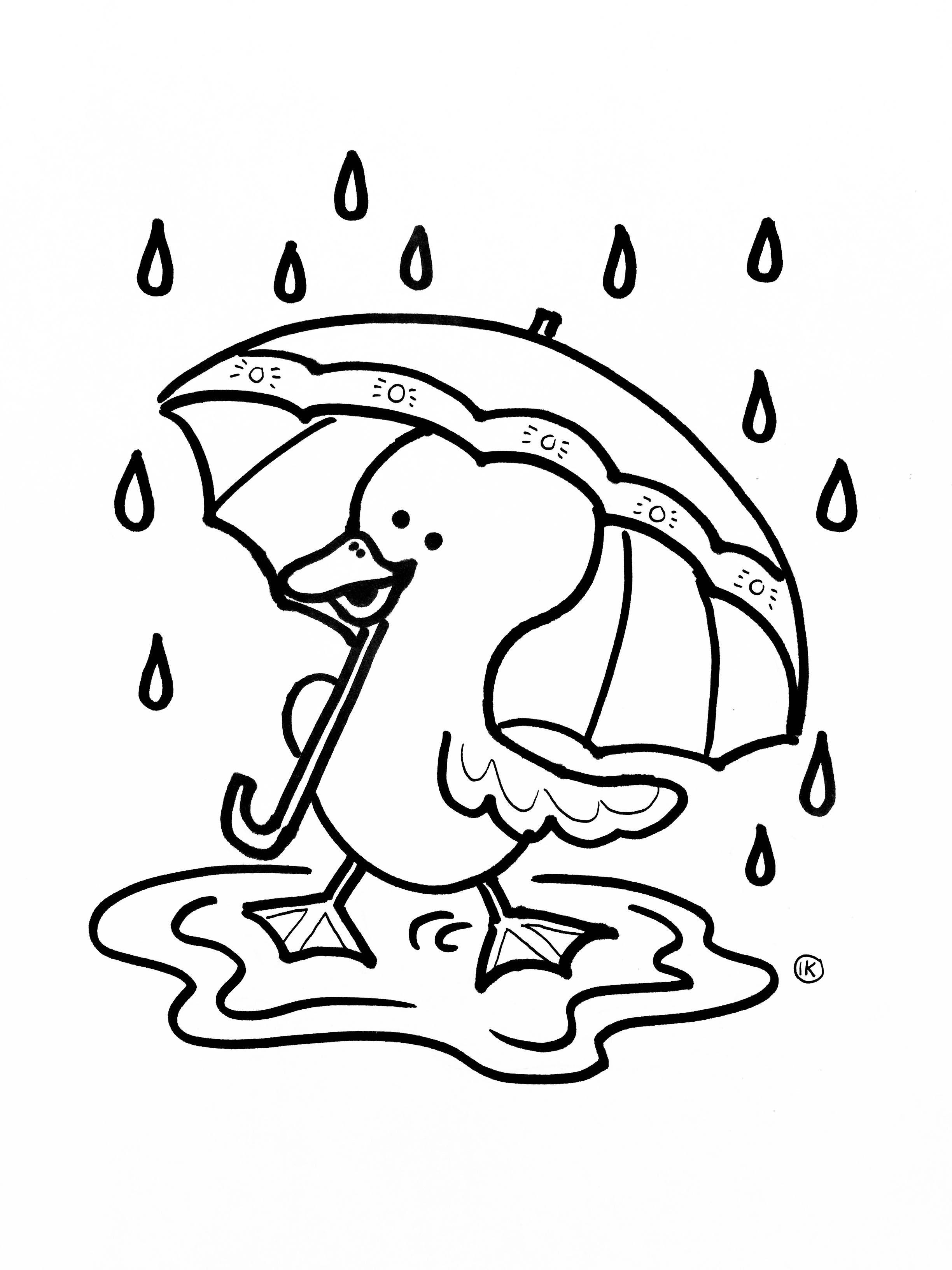 Kleurplaten Met Thema Regen Kleurplaat Regen Kleurplaat Eendje In De Regen 1028 Kleurplaten Regen Thema