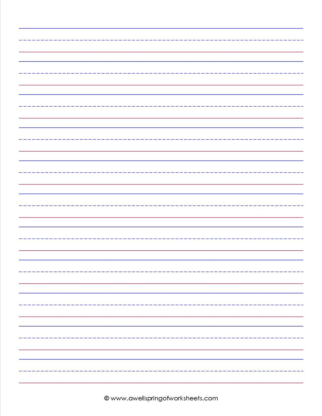 Primary Grade Lined Writing Paper