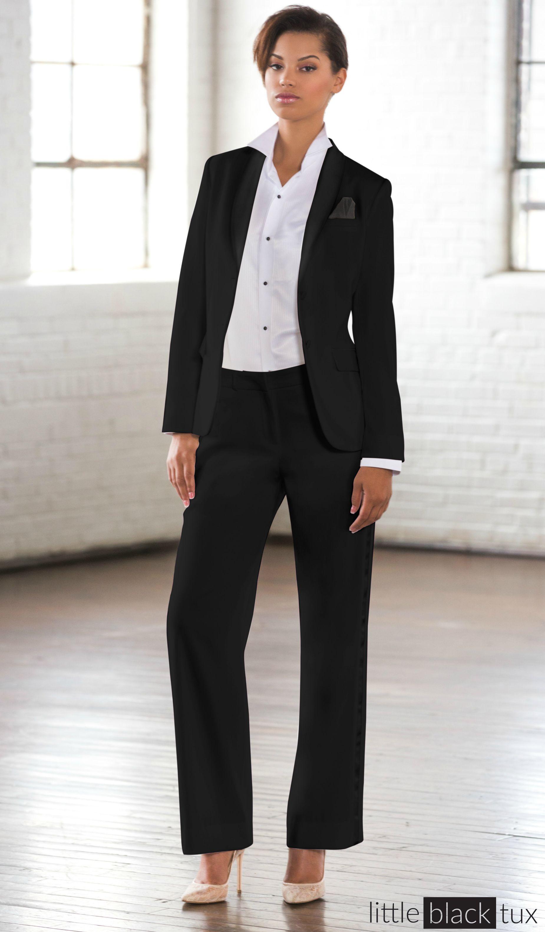 Women s Black Tuxedo   Ladytux. Shawl Collar b2481816e