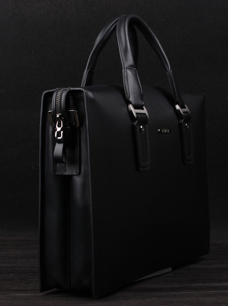 Luxury High-end Genuine Leather Black Checkered Bag  4cc7be1c8c946