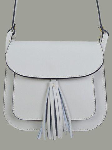 Vimoda Faux Leather Tassel Shoulder Bag