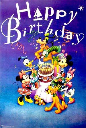 Images Of Birthday Posters Mickey Mouse Happy Birthday 1 Poster From Walt Disney Pos Happy Birthday Disney Happy Birthday Kids Happy Birthday Greetings