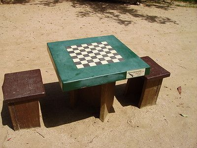Outdoor Chess Or Checkers Table