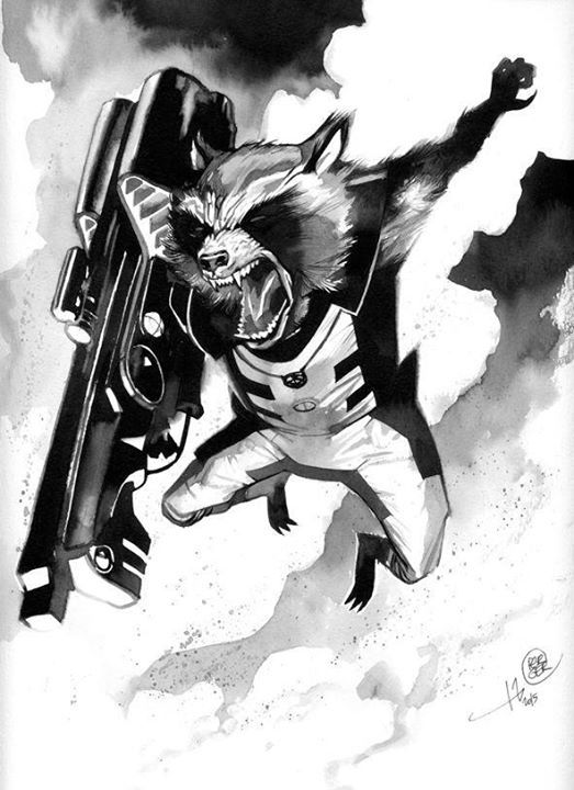 Rocket Raccoon By Stephane Perger Strazhi Galaktiki Medoed Marvel