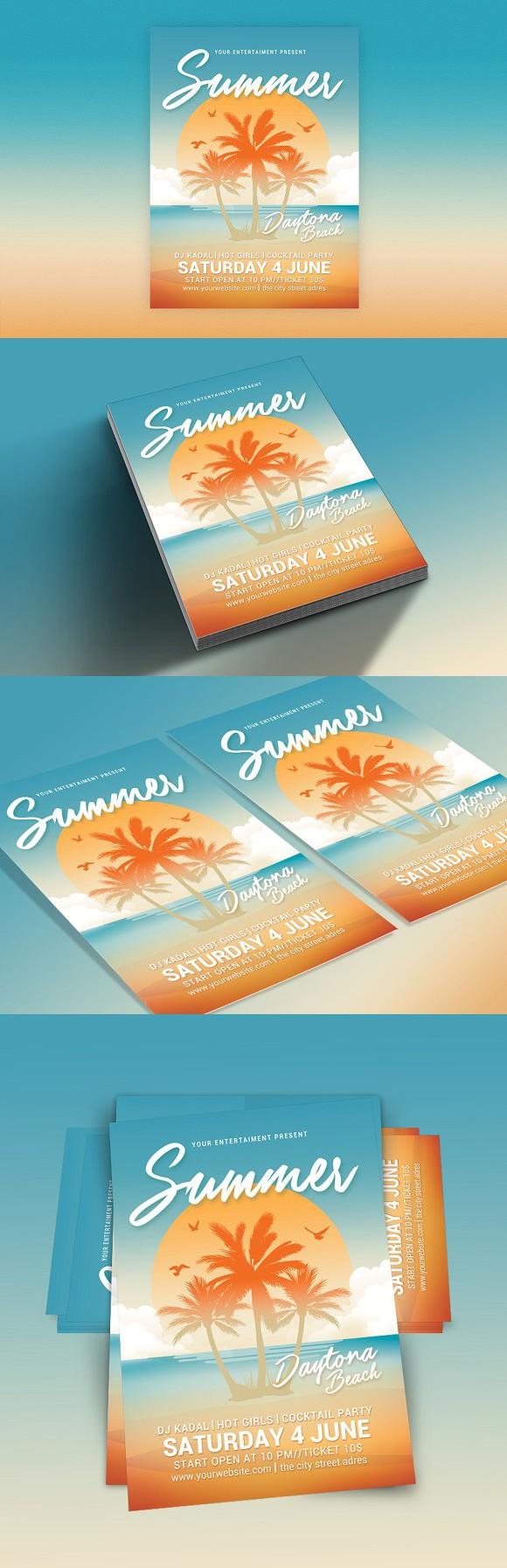 Summer Beach Party. Flyer Templates