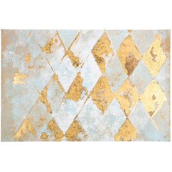 Diamond Abstract Canvas Wall Decor | Wall Decor Ideas | Pinterest ...